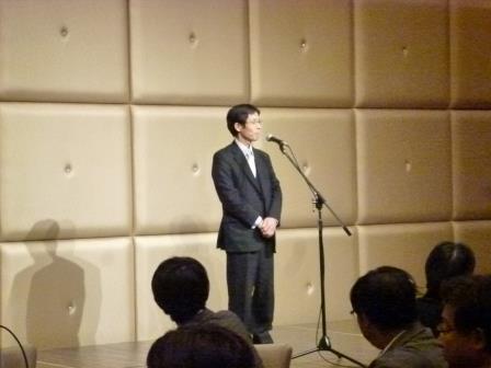 松川教授の挨拶